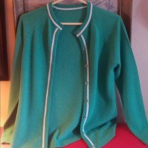 Sweaters - Green Cardigan